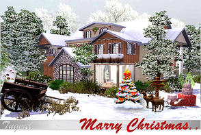 Sims 3 — Christmas House-2011-Full Furnished by TugmeL — TugmeL-Residence-22 Requires; World Adventures, High End Loft