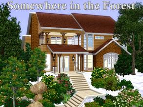 Sims 3 — Somewhere in the Forest by lilliebou — Hi ! Here are some details about this house : First floor: -Bathroom +