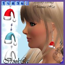 "Sims 3 — accessory earrings  by Irishkakic — accessory earrings ""Christmas Hat"" by Irink@a"