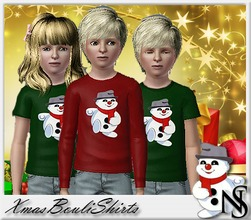 Sims 3 — Nea-XmasBouli by Nea-005 — Xmas shirts with long and short sleaves for boys and girls