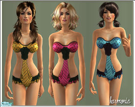 Sims 2 — Dots Body/Teddy For SIMS 2 by Harmonia — Don\'t forget my Harmoniamesh 021 Hourglass Bodyshape Mesh