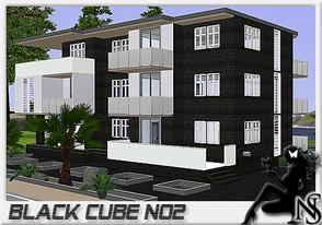 Sims 3 — Nea-Black Cube No2 by Nea-005 — Made by NeaSims 3 floors, livingroom, diningroom, kitchen, 3 bathrooms, 4