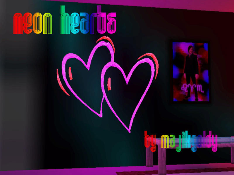 Majikgoldys Neon Lights Hearts