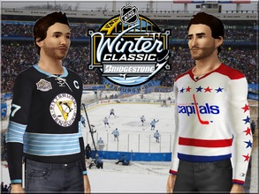 Sims 3 — Winter Classic 2011 Jerseys by lilliebou — Hi ! These are four jerseys of the Winter Classic 2011. There are two