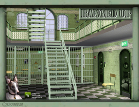 Sims 3 — Banged Up!  Prison Build Set by Cyclonesue — Doors, windows and communal-areas items for prisons or to divide