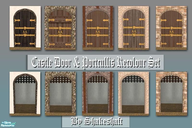 Castle Door \u0026 Portcullis Recolours & shakeshaft\u0027s Castle Door \u0026 Portcullis Recolours
