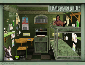 Sims 3 — Banged Up!  Prison Cell Furniture by Cyclonesue — A collection of furniture for prison cells and other