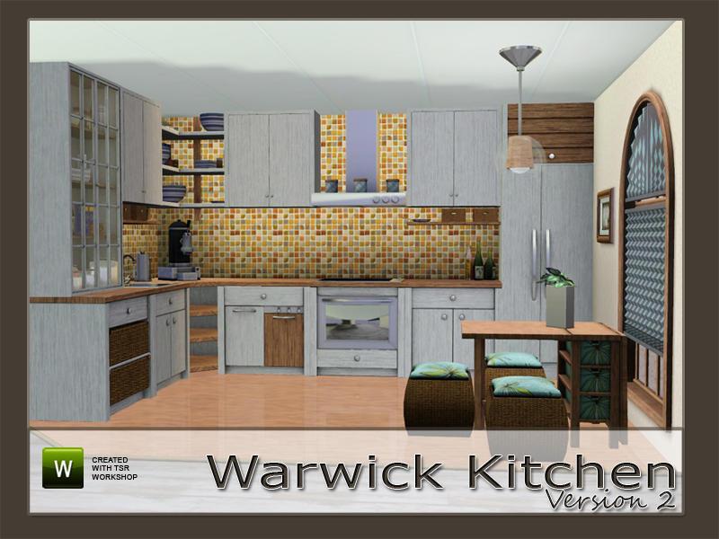 Angela 39 s v2 warwick kitchen for Sims 2 kitchen ideas