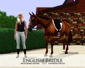 Sims 3 — English Bridle - Equus by xtinabobina — English Bridle Mesh by Christina @ equus-sims.blogspot.com. No Paysites.