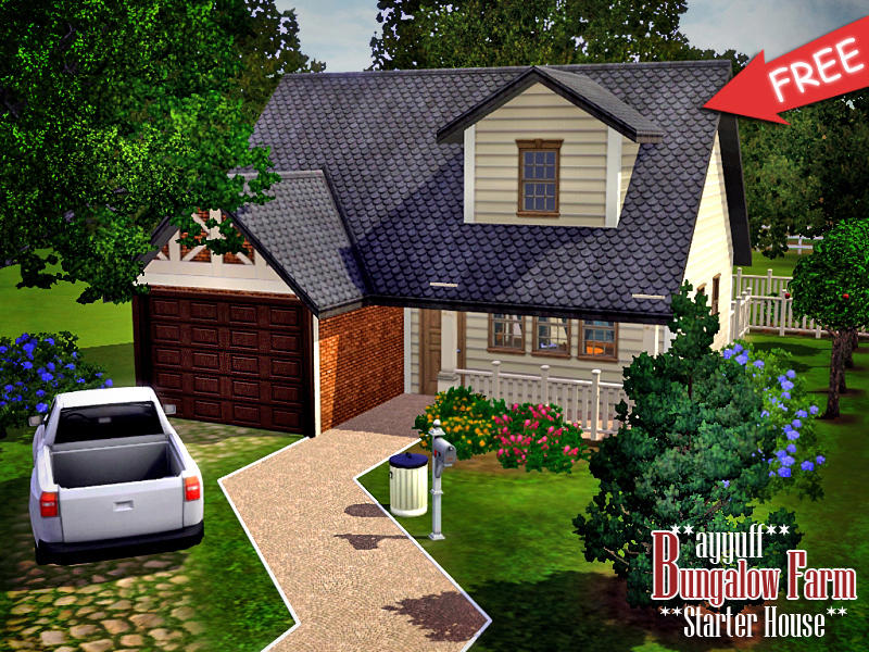 Ayyuff 39 s bungalow farm starter house furnished for Small starter house plans