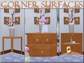 Sims 3 — Corner Surfaces by lilliebou — Use ALT to place the coffee tables against a wall. Use MOVEOBJECTS ON to place a