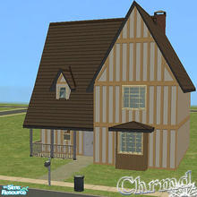Sims 2 — French Country Cottage by Chrmd — A charming ideal starter 2 bed-1 bath cottage with space for a driveway if you