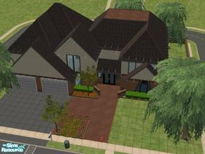 Sims 2 — Spring Haven by KatieKing — Nice house with lots of rooms and a 2 car garage. 2 story house. Based on a picture