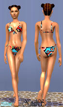 Sims 2 — NS teenswim collection-part 2-item3. by Natalis — Tropical colors bikini for teen girls.