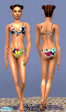 Sims 2 — NS teenswim collection-part 2-item2. by Natalis — Tropical colors bikini for teen girls.