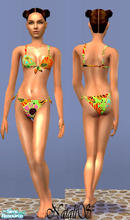 Sims 2 — NS teenswim collection-part 2-item1. by Natalis — Tropical colors bikini for teen girls.