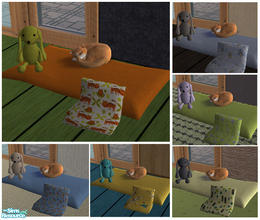 Sims 2 — A soft cozy bed for Tales by Nanshi — My cat Tales would love this lovely soft snooze pad. It is based on