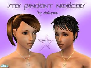 Sims 2 — Necklaces Collection No.1 by daLyna — Star Pendant Necklaces ..:: Enjoy! ::..