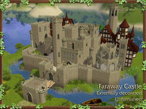 Sims 3 — Faraway Castle - Unfurnished by estatica — Completely unfurnished, this medieval castle is only decorated