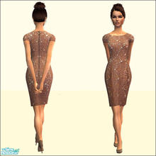 Sims 2 — Praline Lace Dress by SimDetails — Stylish dress in elegant lace optic, sexy and noble alike. Categorized as