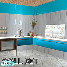 Sims 2 — High wall panel set by macthekat — Birgit43 made a wonderful wall a wile back, but it only came in dust blue, so