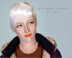 Sims 3 — Thin Arched Eyebrows by flinn — Recolourable eyebrows: available for both genders, toddler to elder.