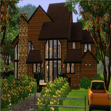 Sims 3 — Morningside by NiniBeMe692 — 3 bedroom 3 bathroom log home. Featuring a great room, study, loft, laundry room,