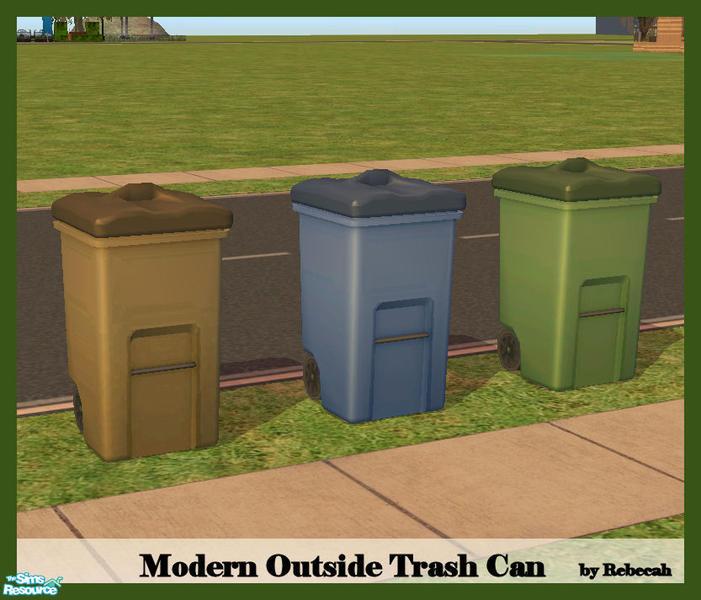 Rebecah 39 S Modern Outside Trash Can