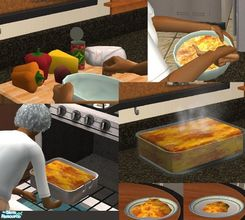 Sims 2 — Mexican Casserole (Group Meal Only) by TheNinthWave — The Mexican casserole is available for lunch and dinner
