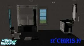 Sims 2 — Bathroom Dark and Silver by chrisfp — Bathroom Black Silver The sophisticade kitchen in black and silver. No