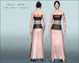 Sims 3 — Formal Dress for YA AF by flinn — A romantic and modern formal dress for adults and young adults: three
