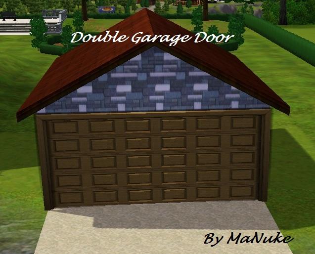 Manuke double garage door for Sims 4 garage