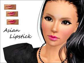 Sims 3 — Asian Lipstick  by steadyaccess — Lipstick for females from teen to elder!) Hope you'll enjoy it!^) Asian