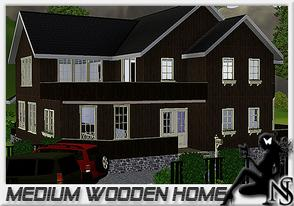 Sims 3 — Medium wooden home by Nea-005 — made by NeaSims@2011 Tradicional home with 2 floors, livningroom, diningroom,