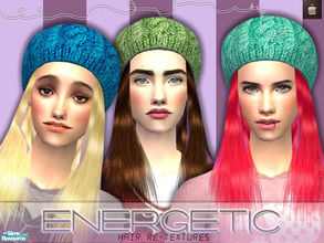 Sims 2 — Energetic Re-textures by haiduong — This is a set of re-textures based on a XMSims hair, I thought the mesh is