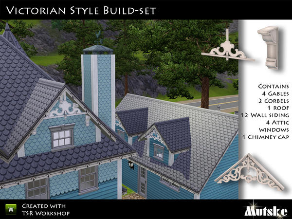 Mutske 39 s victorian style buildset for Victorian gable decorations