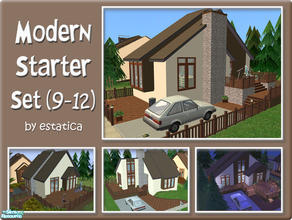 Sims 2 — Modern Starter Set (9-12) by estatica — The third collection of the modern starter series, it includes 4