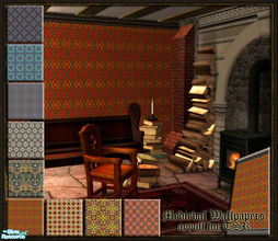 Sims 2 — Medieval Wallpapers by ayyuff — 9 new medieval wallpapers...
