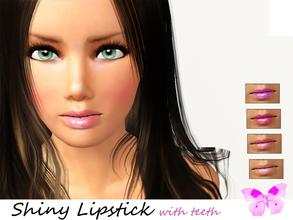 Sims 3 —  Shiny Lipstick with teeth  by steadyaccess — Shiny Lipstick with teeth for females from teen to elder! Happy