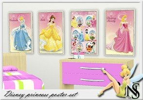 Sims 3 — Nea-Disney princess by Nea-005 — Kids posters with Disney Princess motives : Bella, Cinderella, Sleaping beauty,
