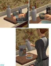 Sims 2 — Vintage Breakfast Foods by TheNinthWave — Included in the set are 3 Turn of The Century breakfast foods. Cream