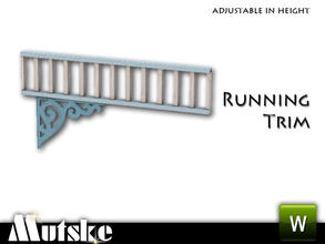 Sims 3 — Victorian Style Running Trim Bracket by Mutske — 3 Recolorable parts. Made by Mutske@TSR. TSRAA.