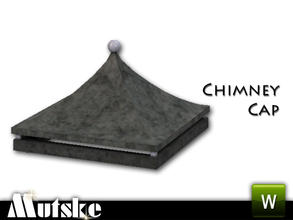 Sims 3 — Victorian Style Chimney Cap by Mutske — 3 Recolorable parts. Made by Mutske@TSR. TSRAA.