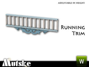 Sims 3 — Victorian Style Running Trim Header by Mutske — 3 Recolorable parts. Made by Mutske@TSR. TSRAA.