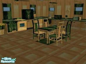 Sims 2 — Kitchen Golden Green - Wall & Floor by chrisfp — Wall and Floor matching with Kitchen Golden Green Set This