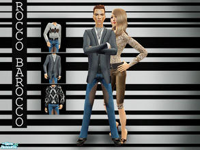 Sims 2 — Rocco Barocco Menswear by lemonloveshane — A set consisting of 3 outfits presented at a Rocco Barocco fashion