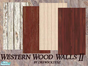 Sims 2 — Western Wood Walls II by drewsoltesz — Here are some frontier/western type rustic wood walls for building that