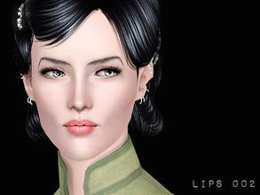Sims 3 — 4 Channel Lips for MF by flinn — Four colour channels, smooth handpainted textures, available for both genders