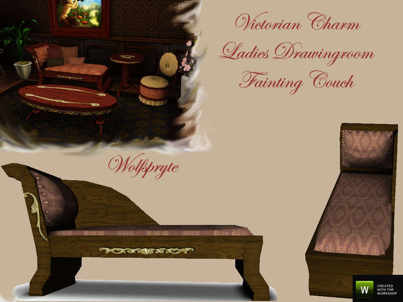 Wolfspryte's Victorian Charm Ladies Drawingroom Fainting Couch *TSRAA*