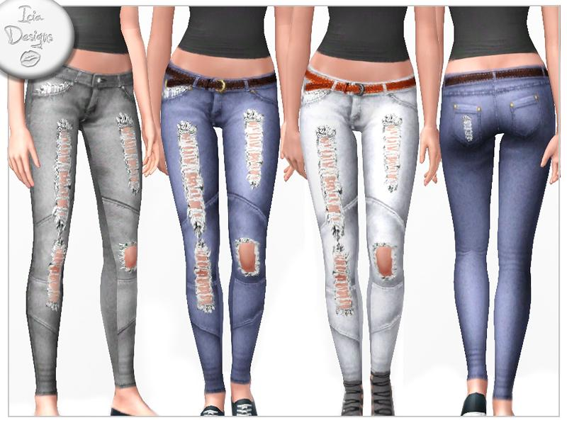 Sims 3 Downloads - 'ripped jeans'